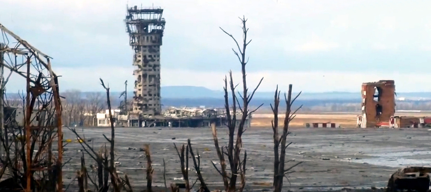 Zerstörter Flughafen Donezk im Januar 2015