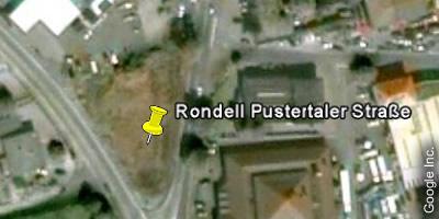 Rondell Pustertaler Kreuzung Google Earth