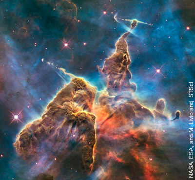Der Carina-Nebel im Hubble Space Telescope