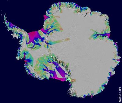 Eisverlust in der Antarktis