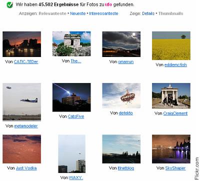 Ufo-Suche auf Flickr.com