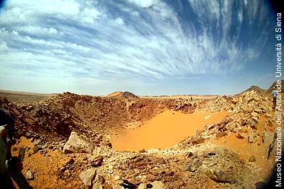 Der Gebel-Kamil-Krater in Ägypten