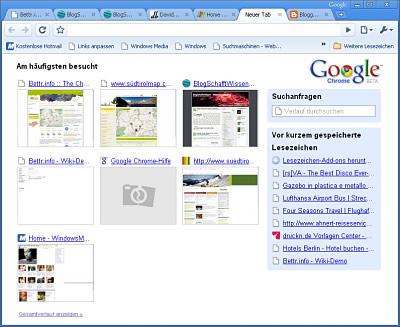 Erster Eindruck von Google Chrome
