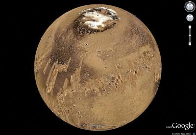 Mars in 3D-Ansicht