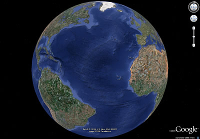 Erde mit mittelatlantischem Rücken