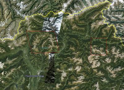 Google Earth und Maps Imagery Update für Südtirol