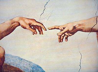 Michelangelos Hand Gottes