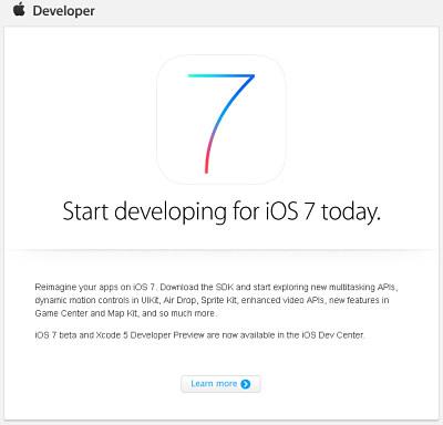 iOS 7 ante portas!