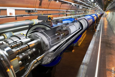 3D-Ansicht des Large Hadron Colliders'