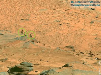 Detail-Ansicht des Gebildes mit Marsjungfrau