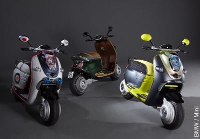 Die 3 Modelle des BMW Mini Scooter E Concept