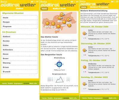 Mobiles Südtirol-Wetter