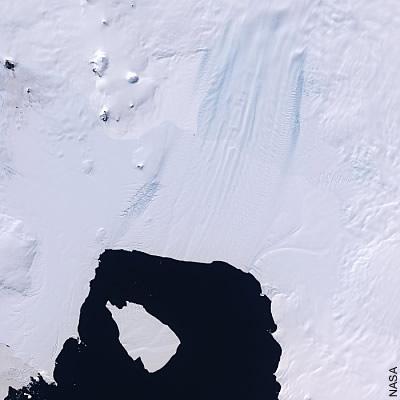 Der Pine-Island-Gletscher im Jahre 2008