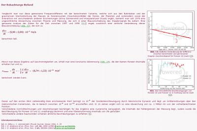 Dokumentationen und Diagramme zur Pioneer-Anomalie