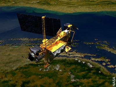 Künstlerische Ansicht des UARS-Satelliten
