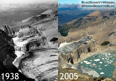 Vergleich: Grinnel Glacier 1938 und 2005
