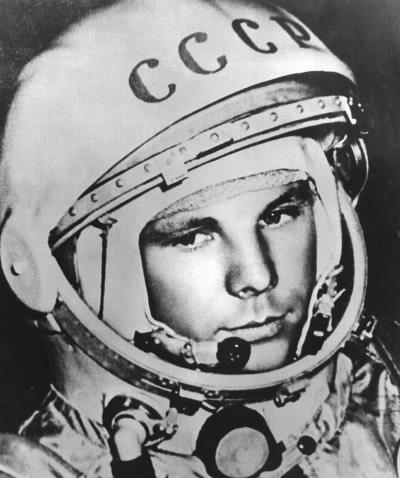 Ikonenhafte Darstellung von Yuri Gagarin